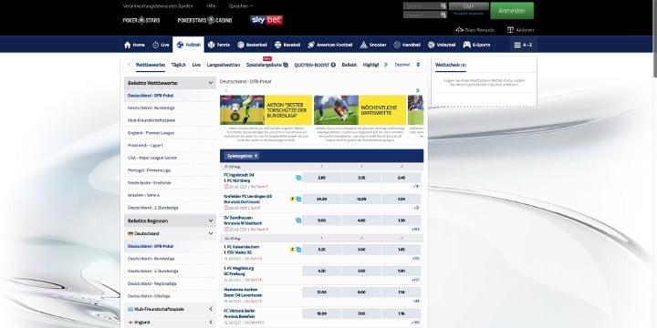 SkyBet Fußball Wetten