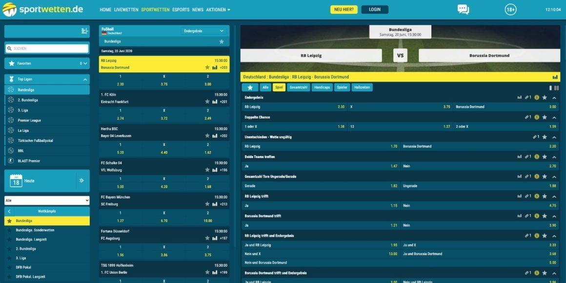Sportwetten.de Bundesliga Wetten