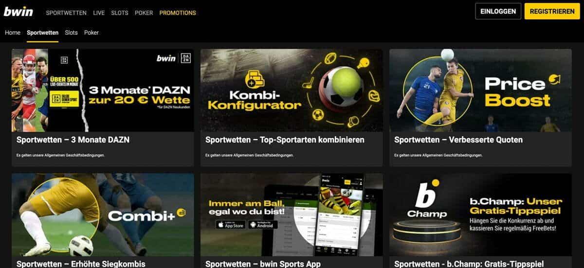 Bwin Sportwetten Bonus Aktionen