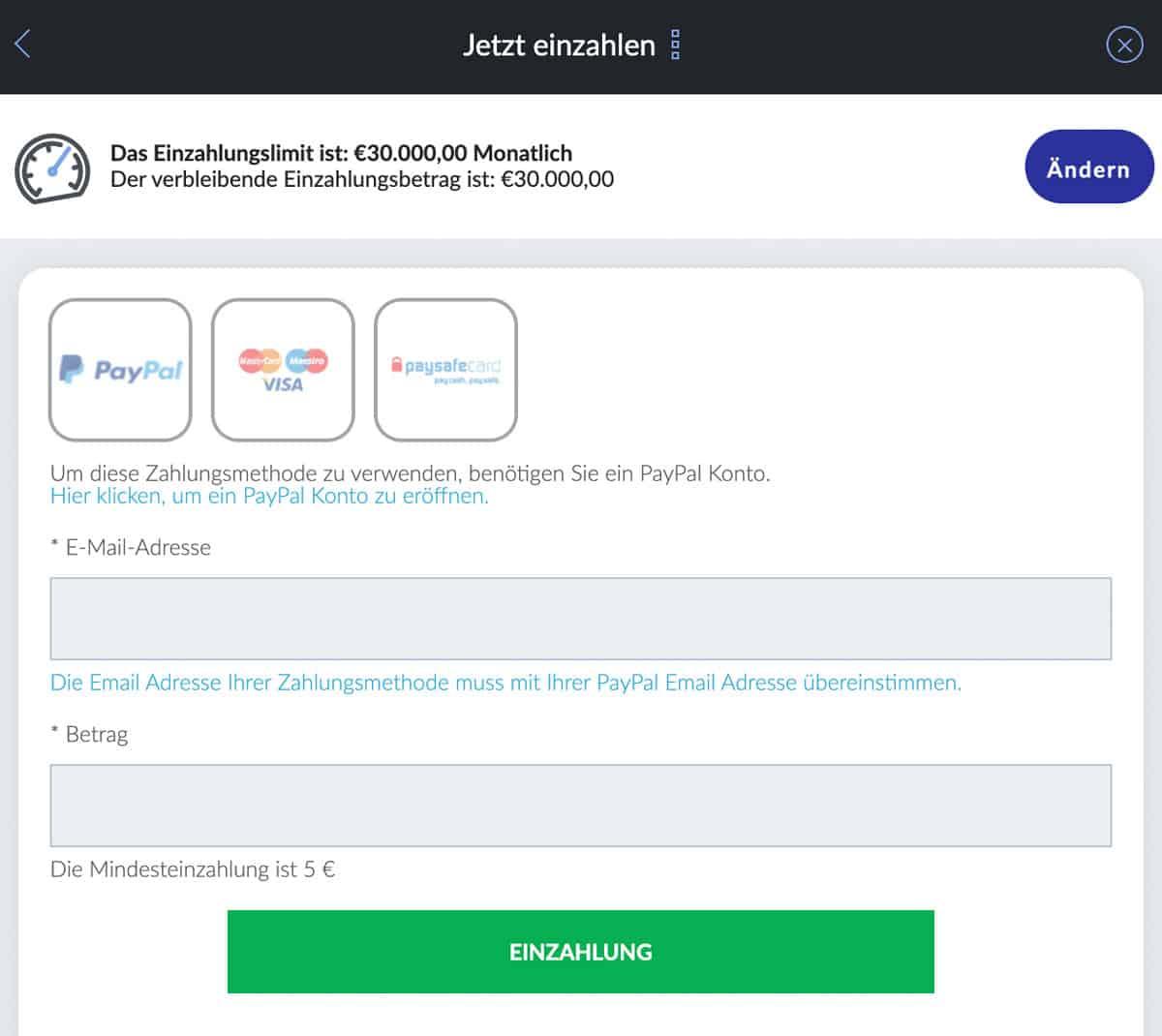 BildBet Zahlungsmöglichkeiten