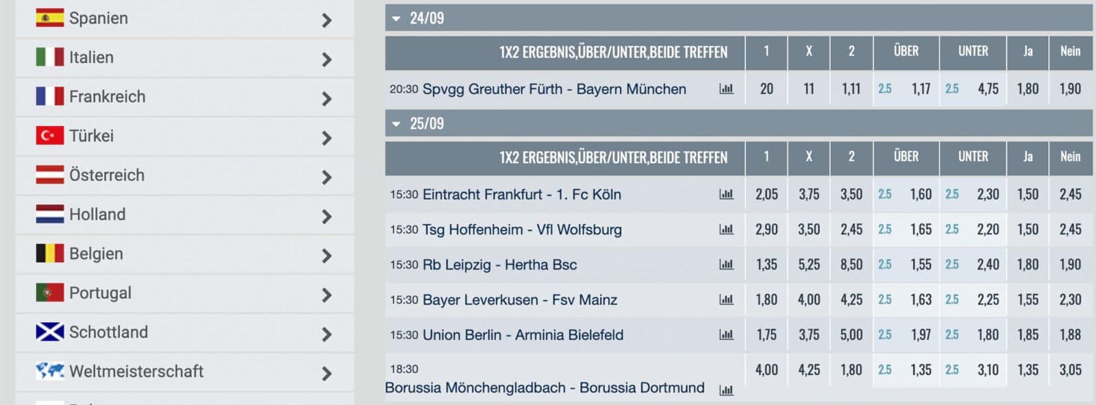 Happybet Bundesliga Wetten
